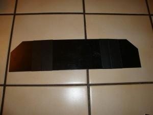 Zugeschnittene Kunststoffplatte